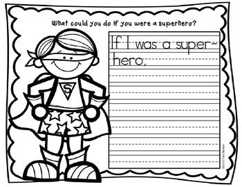 "This is a set of 3 ""Superhero"" themed writing sheets. There are 3 levels as shown in the thumbprints for easy differentiation. Students can also have fun coloring the superhero after they write. I'll use these following the poem, ""What could you do if you were a superhero?"""