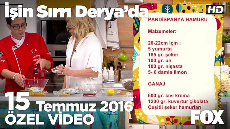 Pandispanya hamuru nasıl hazırlanır?   İşin Sırrı Derya'da 15 Temmuz 2016 - YouTube
