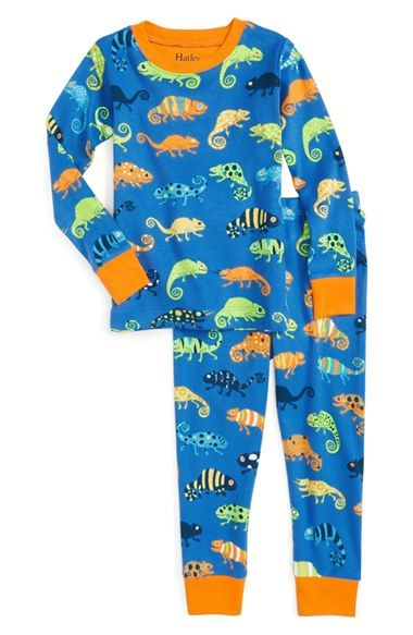 Hatley 'Crazy Chameleons' Fitted Two-Piece Pajamas (Toddler Boys, Little Boys & Big Boys)