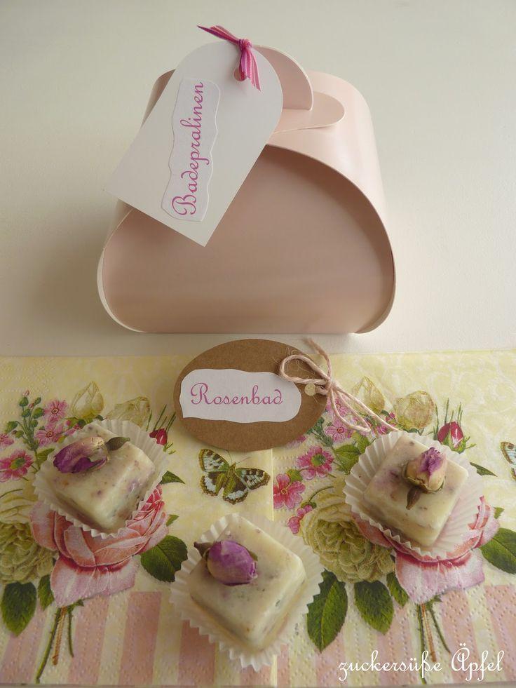 ♥ Zuckersüße Äpfel ♥: - Anzeige - Es duftet nach Rosen...Badepralinen DIY