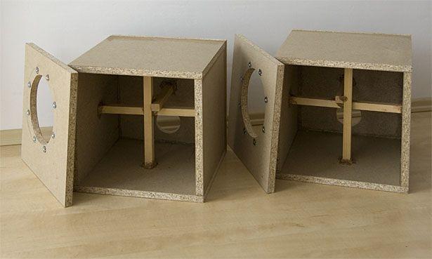 Magic TRIck v4 woofer cabinets under construction.