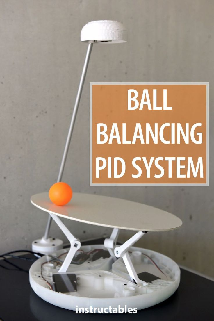 This proportional-integral-derivative (PID) system balances a ball on a plate. A…