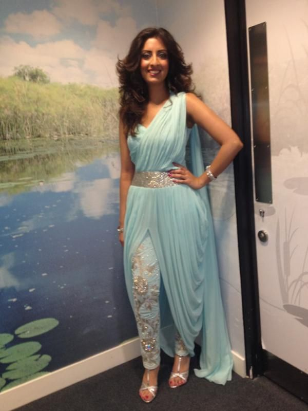 Brilliant @DJNoreenKhan in Mod #Desi #Fashion by http://www.ZoyaUK.com/ ~
