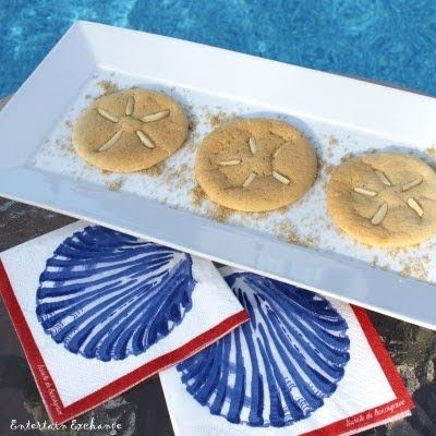 Fun Foods for Beach Theme Summer Parties. Lots of really cute ideas! crabby croissants, sailboat deviled eggs, sand dollar cookies... and more