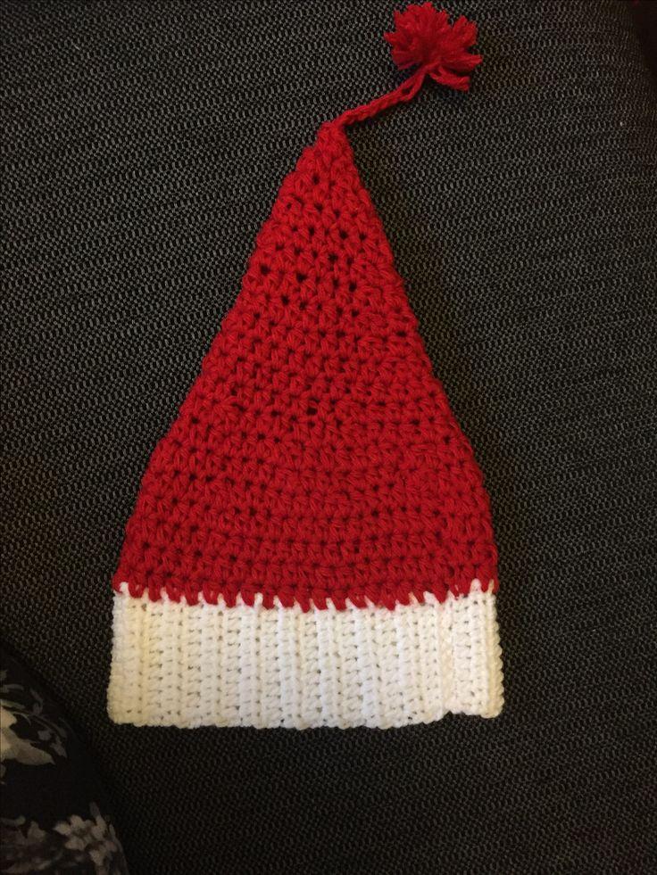 Crochet elf hat /hæklet nissehue