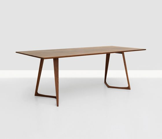 Table, solid wood  Beech, Esche, Oak, Knotty oak, American cherry, American walnut, European walnut  table top 26mm thick available in further sizes and timbers the wood is impregnated with natu…