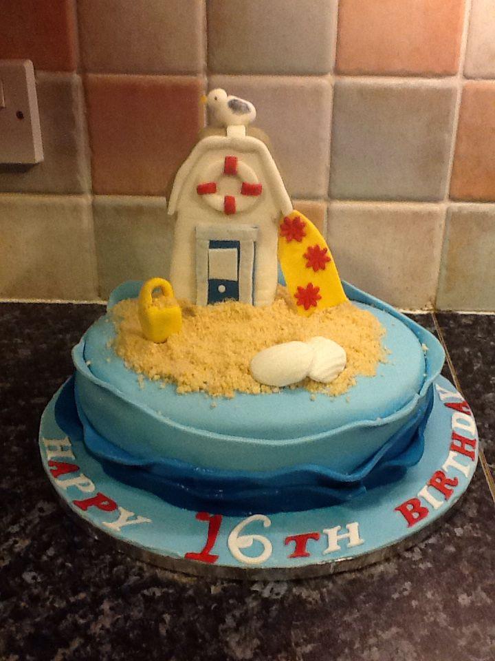 Issys 16th beach cake