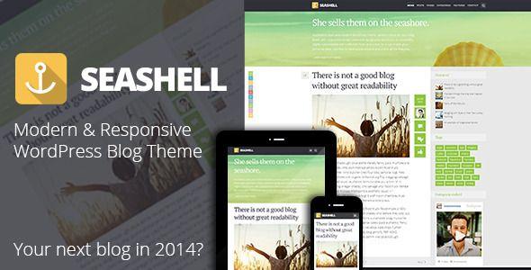 SeaShell – Modern Responsive WordPress Blog Theme