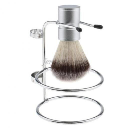 Men's Safety Razor Stand Double Edge Classical Shaving Brush Mug Holder Tool None Alloy China 12*8.45cm Silver Magideal