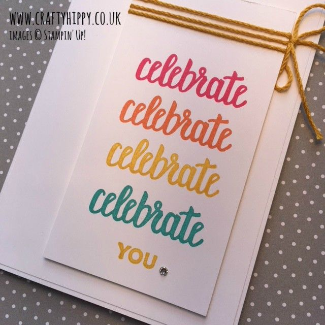 Amazing You card Stampin' Up!