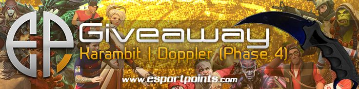 Check out this Esportpoints.com is doing a giveaway on Karambit | Doppler…