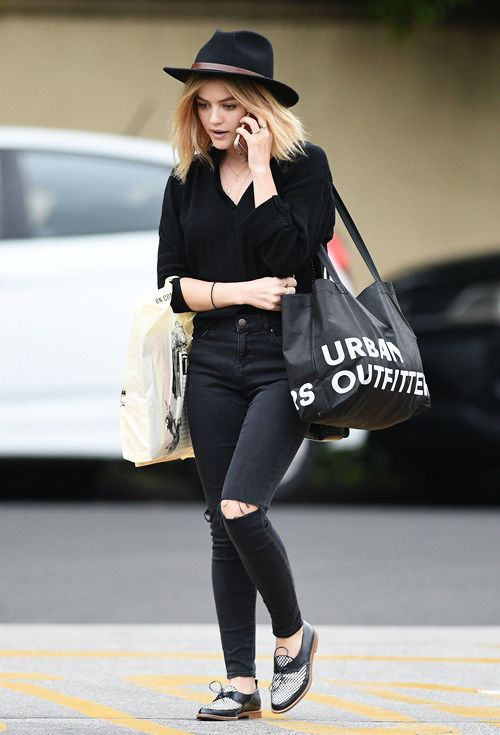 Lucy Hale shopping at Barnes & Noble and Urban Outfitters in Studio City | March 13th, 2016