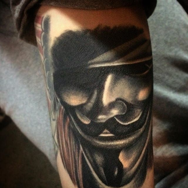 25+ Best Ideas About V For Vendetta Tattoo On Pinterest