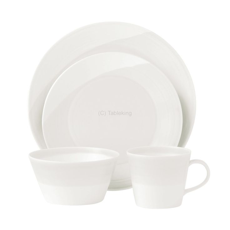 The Royal Doulton 1815 White Dinner Set  8 Place is perfect for casual entertaining and everyday use. Exclusive 2yr chip guarantee - Best Prices - Tableking