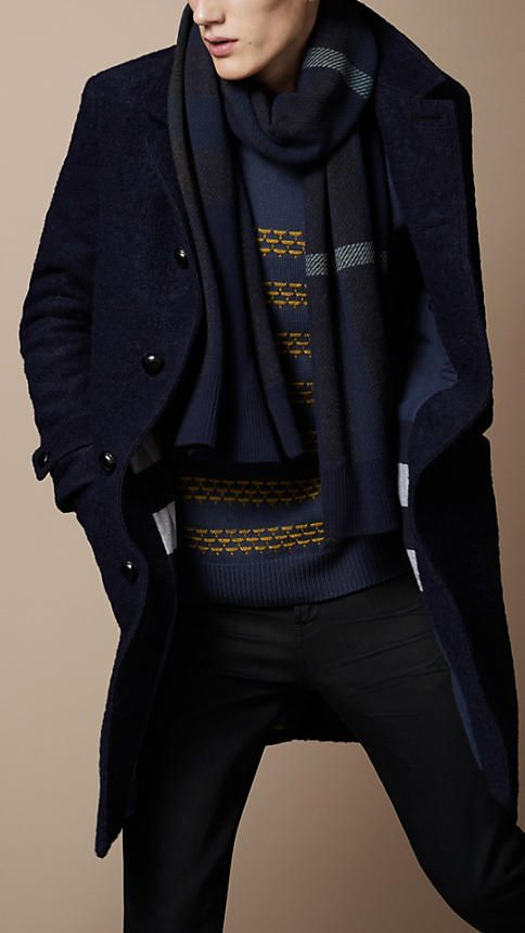Washed Wool and Mohair Coat | Burberry