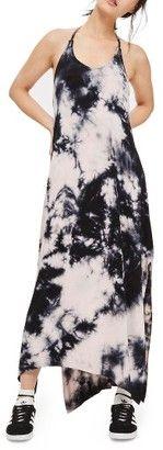 WOMEN'S TOPSHOP TIE DYE HALTER MAXI DRESS