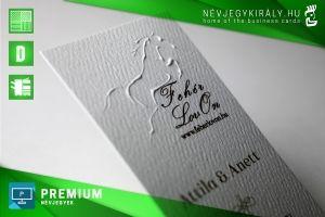Premium névjegykártya dombornyomással