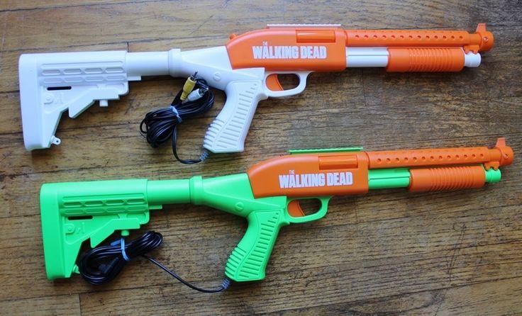 The Walking Dead Zombie Hunter TV Plug & Play Game Gun, 2 guns only no receiver