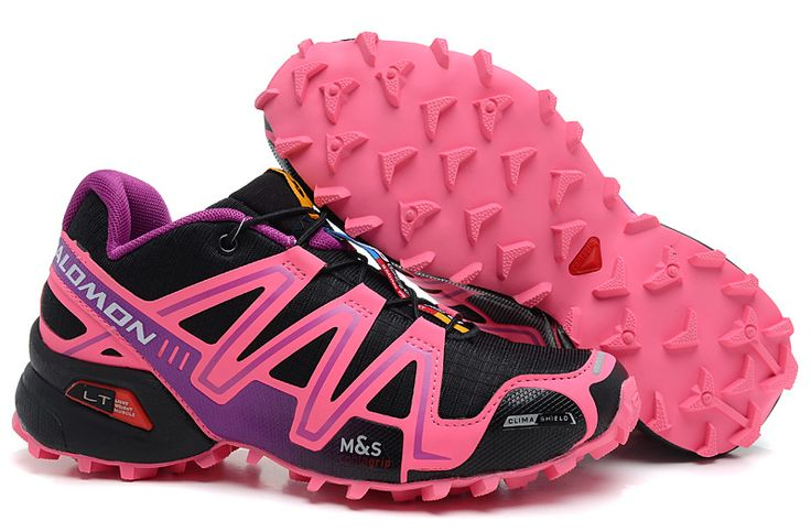 Salomon Speedcross 3 Womens Hot Pink Black Purple Shoes