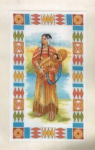 Indian Cross Stitch   Anchor Shosoni Indian Lady Counted Cross Stitch Kit PCE832   eBay
