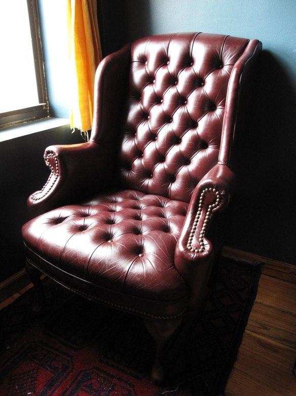 Winged High Back Chesterfield Armchair