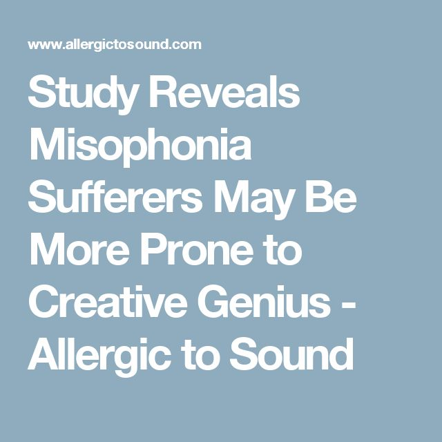 Study Reveals Misophonia Sufferers May Be More Prone to Creative Genius - Allergic to Sound