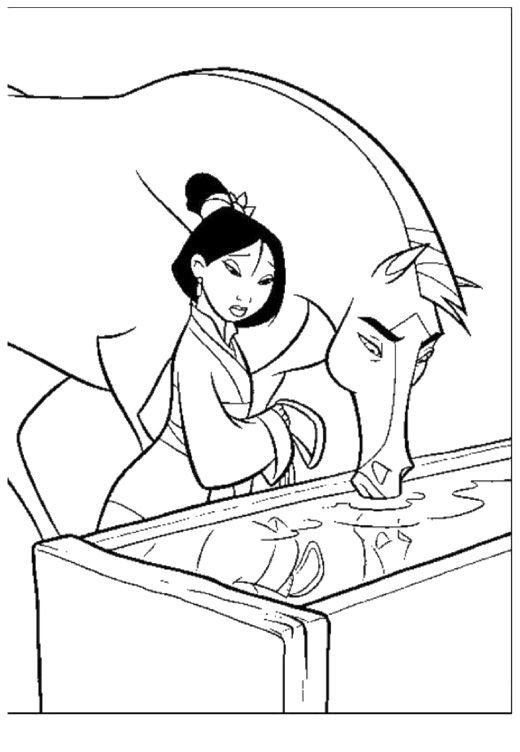 Coloring Pages Of Disney Horses : Best images about disney mulan coloring pages on pinterest