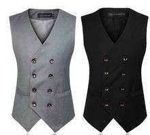 Colete masculino mens double breasted vest mannen jurk pak vest mannen formele…