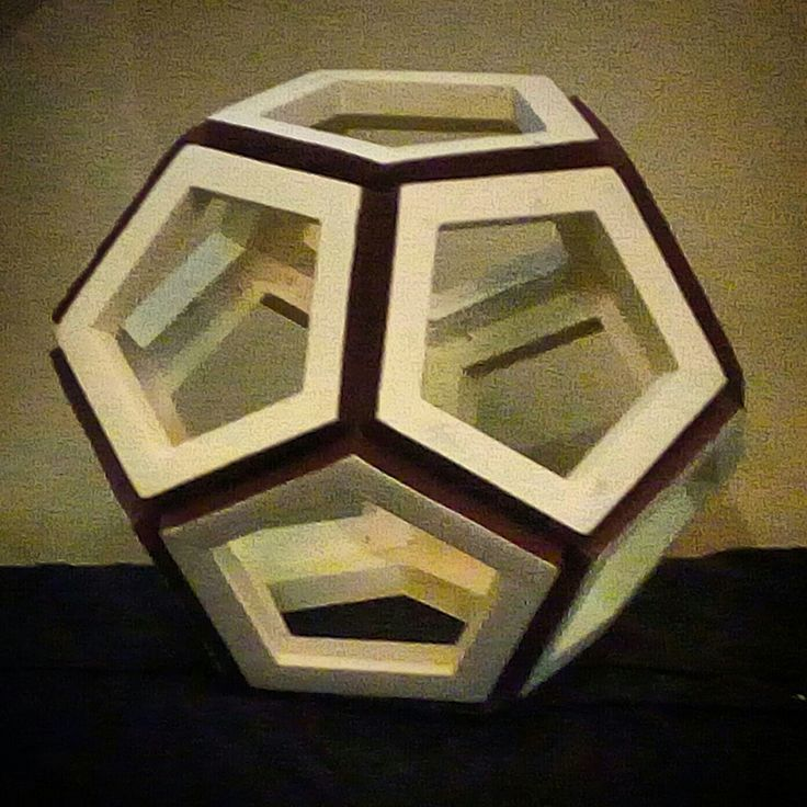 """FROM PAPER TO WOOD  Polyhedron # 4 - DODECAHEDRON Designed by Leo R. Natividad for Lights & Folds Handicraft Fabricated by Allan Aguinaldo  Using 3/4""""×3/4""""×4.5"""" Softwood 12 Pentagons  12 Surfaces  20 Apexes  30 Edges  Circumference - 40"""" (101.6 cm) Diameter - 12.73"""" (32.3 cm)  Price - Php 3,633.00  #from_paper_to_wood #only_in_the_world #origamipilipinas #lights_and_folds_handicraft #only_in_the_Philippines #origami_inspired_wooden_polyhedron"""