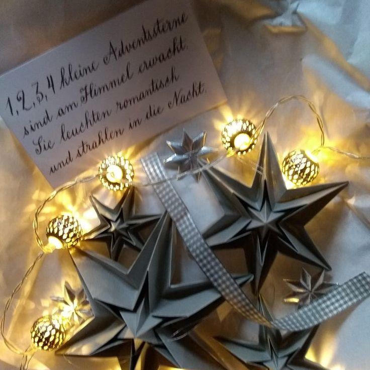 landluststern  basteln weihnachten sterne papier