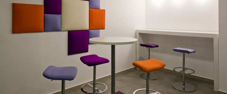 Squarebubbles by Wobedo in 3 sizes, mounted in a Paris office!