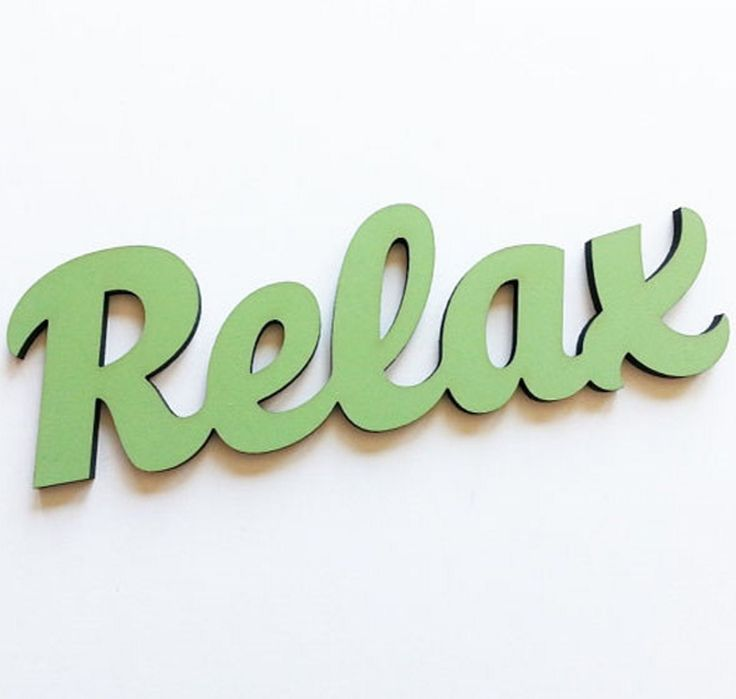 Relax Handpainted Wooden Word Sign