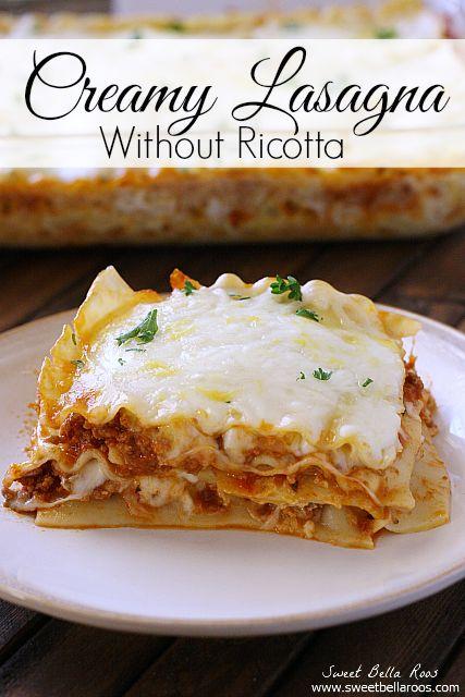 creamy lasagna recipe easy family dinner recipes pinterest rh pinterest com
