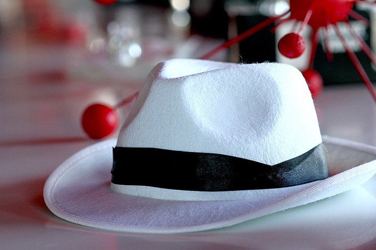 To bring up the party vibe - white hats for all the Gents!
