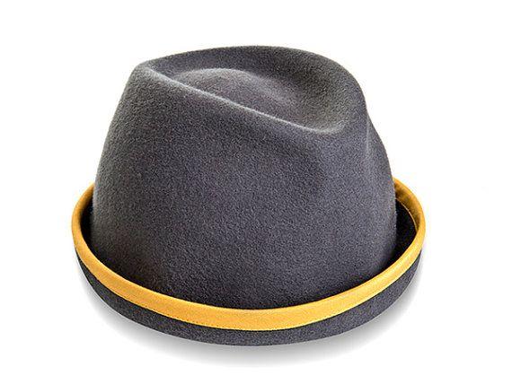Fedora Hat  Felt Hat for men and women  Norm Hat by JustineHats