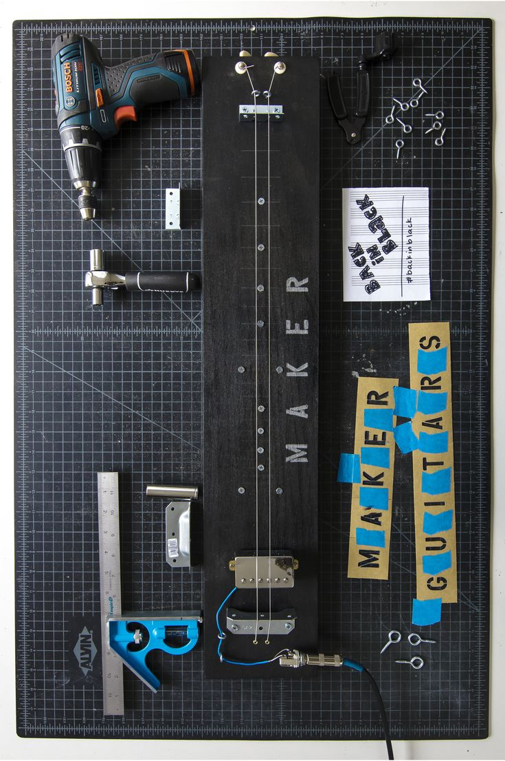 The Back in Black Maker Guitar is a handcrafted instrument, made right here in South Orange, NJ. It is a ...