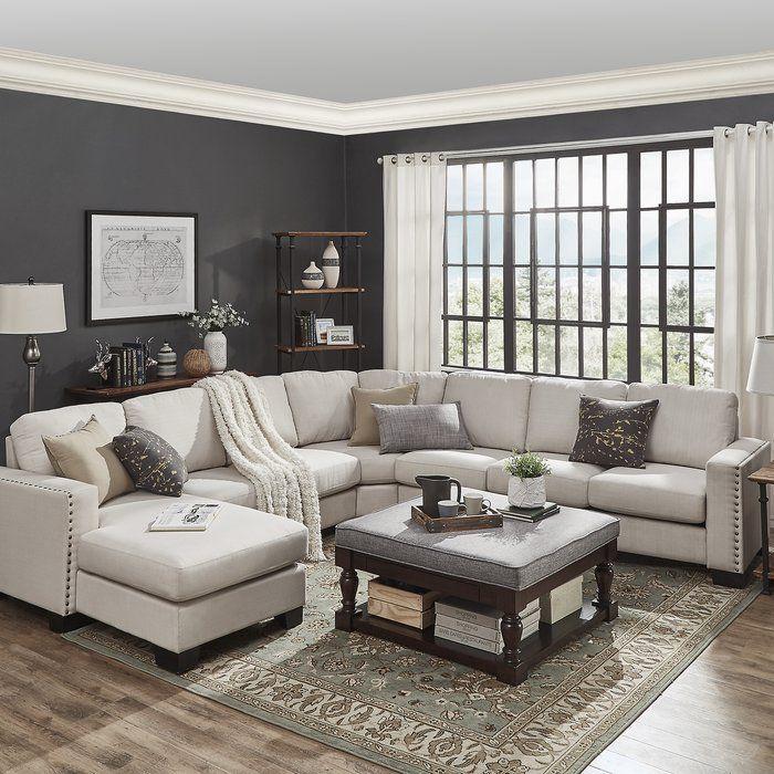 Mercury Row Scates 157 Sectional Wayfair Small Living Room Design Living Room Decor Living Room Grey