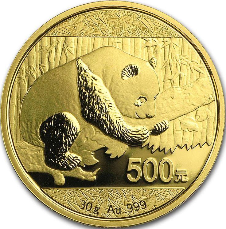 """Il Panda dorato è una serie di monete auree coniate dalla zecca cinese a partire dal 1982 e immesse nel mercato con i valori nominali di 500, 200, 100, 50 e 10 Yuan e corrispondono rispettivamente a 30, 15, 8, 3 e 1 grammo d'oro. Il fronte raffigura il """"Tempio del Paradiso"""" con in mezzo la scritta """"Zhonghua Renmin Gongheguo"""" ovvero Repubblica Popolare Cinese e l'anno di immissione. Il retro ha diverse raffigurazioni di panda gigante che variano di anno in anno (tranne nel 2001 e nel 2002)"""