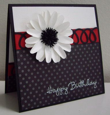 Stamping with Loll: Classic Black and White with Red