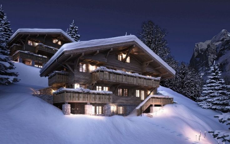 Chalets in Grindelwald, Switzerland