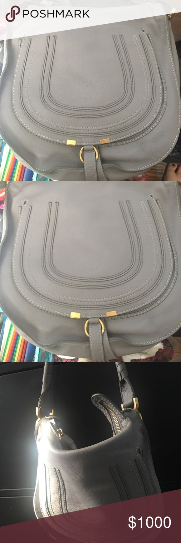 Chloe handbag Only used a few times, light grey color, gorgeous condition. Pet free, smoke free home, duster included Chloe Bags Shoulder Bags