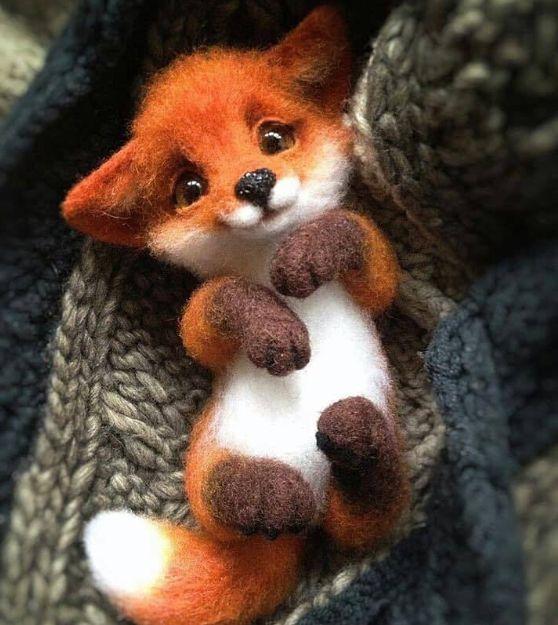 Needle Felting Wool Fox