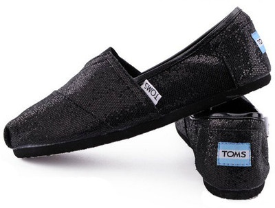 Black glitter toms.  Just got these for the girls and I!!!