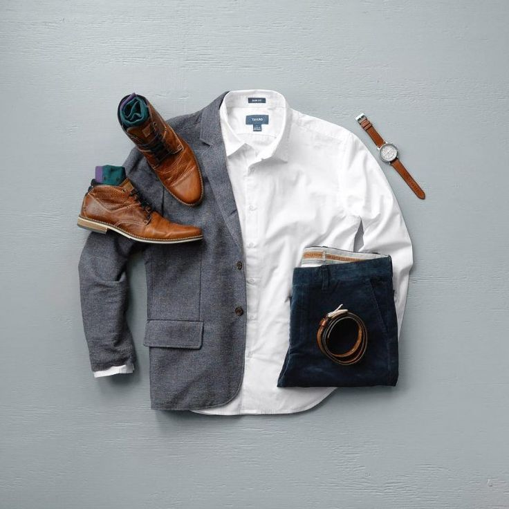 Clean and Classic Grid featuring Nifty Genius and Taylrd Clothing #mensfashion #blazer #corduroy #classy