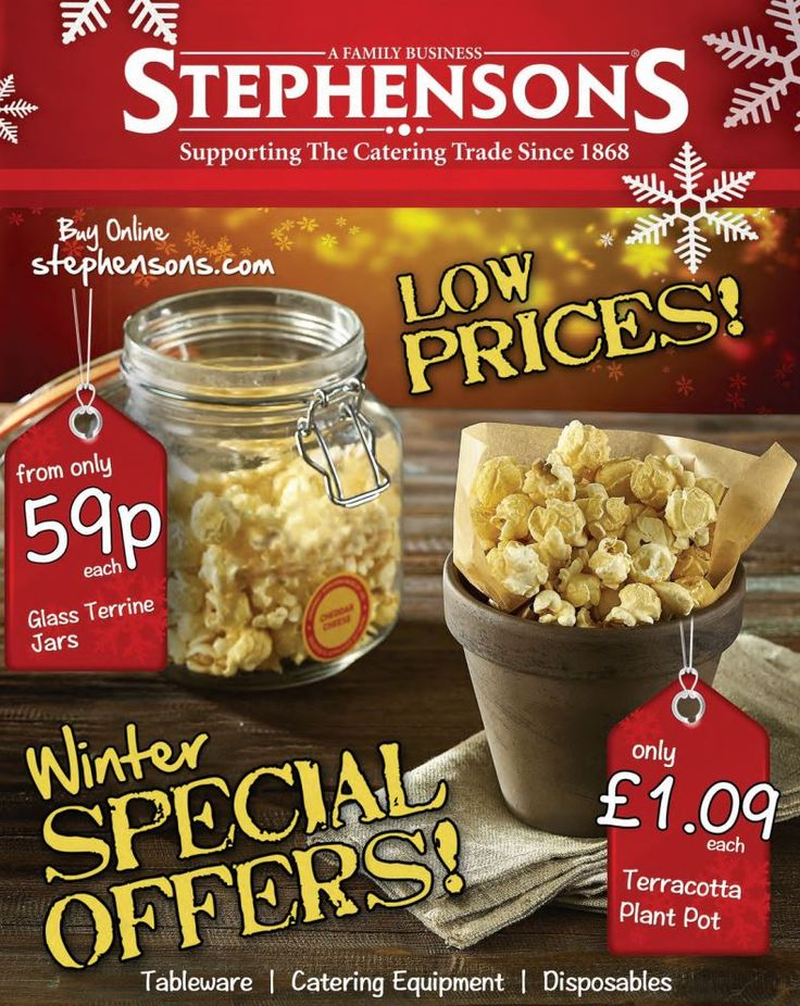 Catering equipment suppliers, Stephensons has published its winter offers leaflet which is packed with innovative new products, low prices and amazing offers. #Manchester #Stockport #Catering #BarSupplies #Offers http://www.stephensons.com/blog/stephensons-publish-winter-offers-leaflet/