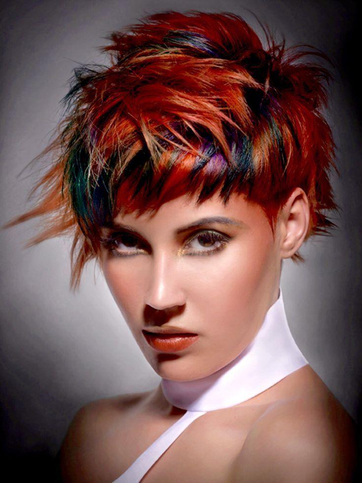 как покрасить короткие волосы фото процессе работы