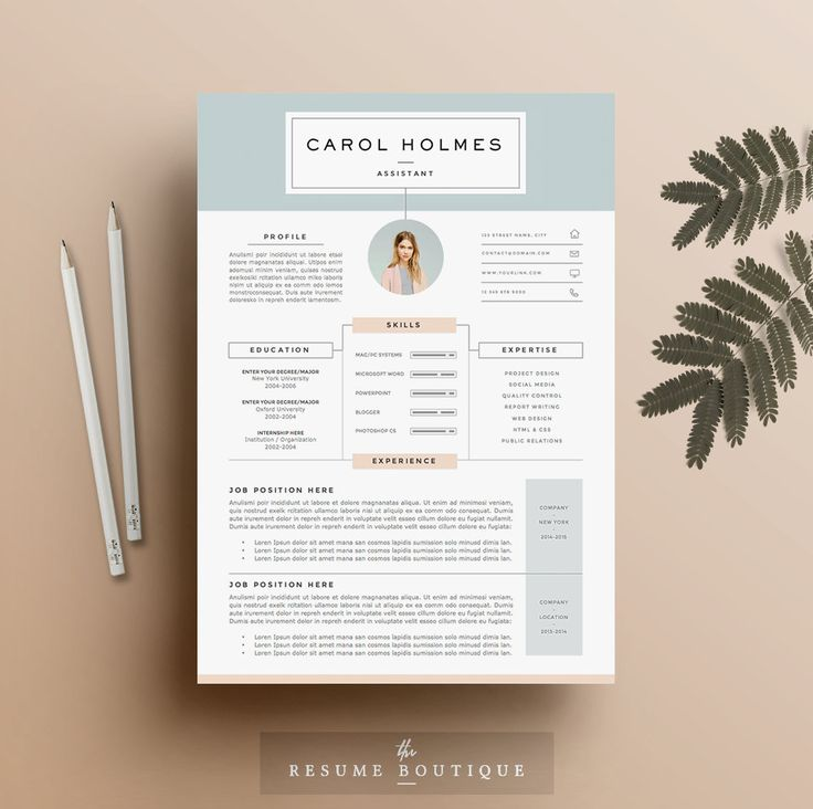 4 page Resume Template and Cover Letter par TheResumeBoutique