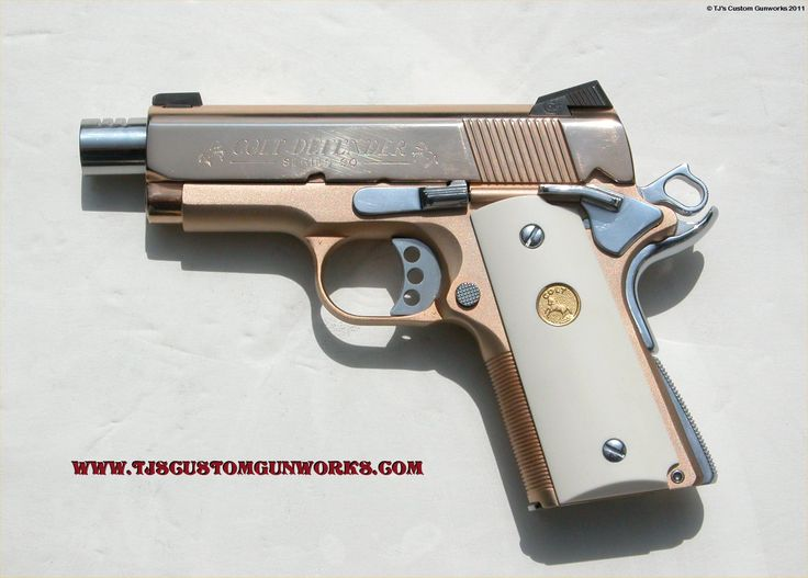 Colt 45 Texas Defender | 18k Rose Gold Colt Defender Series 90 Custom Match .45
