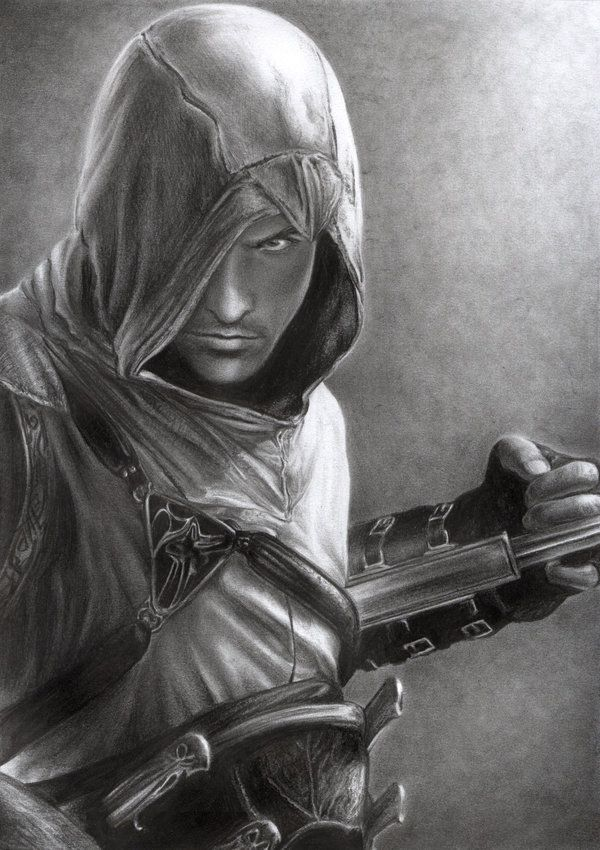 Assassin's Creed - Altair by =D17rulez on deviantART: Altair Drawings, The Artists, Videos Games, Fantasy Art, Assassins Creed Altair, Pencil Drawings, Games Art, Assasin Creed, Pencil Art