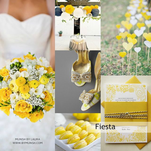MUNSH: Tendencias de Diseño - Abril de Amarillo Buttercup de Pantone®  #Party #Design #weeding